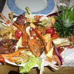 catalana di pesce con verdure