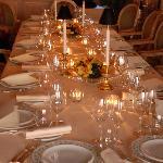 privè del ristorante, la nostra tavola