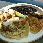 Dorado fish Taco Dinner Plate