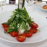 a caprese salad for lunch at the resort