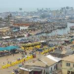 Elmina lagoon: view from Fort St. Jago