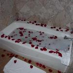 Creating a nice bath...