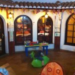 the 'kids area' at the restaurant