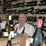 Gils in his wine cellar