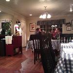 Interior of the restaurant.