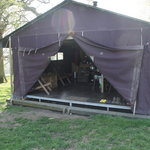 front view of the tent