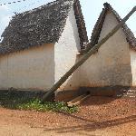 Asante buildings: Besease shrine exterior