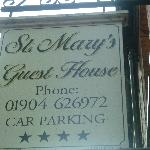 Foto de St. Mary's Guest House