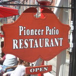 The Pioneer Patio Sign