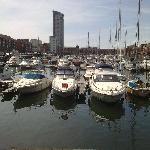 Swansea Marina with Restaurant Distant
