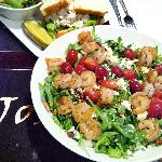 Shrimp Salad with Blistered Grapes and Tarragon CHicken Salad Sandwich