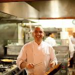 Chef Sergio in Francucci's open kitchen