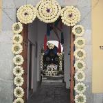 Easter doorway in old town Oaxaca