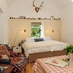 The spacious bed and sitting room at Blackloch