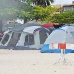 Tents on Eagle Beach