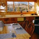 Dining room overlooking King Mountain