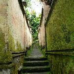 Walkway between villas.  Weathering adds to the atmosphere.