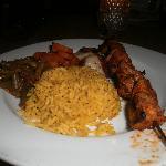 Our delicious chicken kabob supper