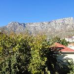 View of table mountain from kitchen window