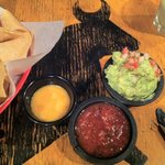 Need I say more! Mango salsa, salsa, and guac.