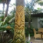 Carved Palm tree