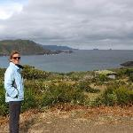 View from lookout on Bruny Island.