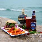 Burger on the rocks created for IMI magazine