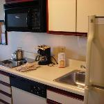 Decent-sized kitchen.