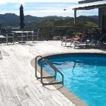 The pool and decking