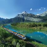 Rocky Mountaineer at Exshaw Alberta