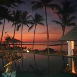 sunrise over the main pool