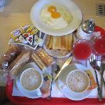 Breakfast lovely prepared by Lorenza