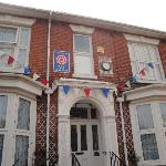 Bunting up ready for Royal Wedding