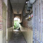 Hallway leading from street entrance to courtyard