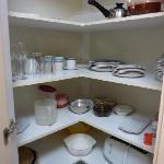 Kitchen crockery and utensils