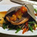 der Sant Petersfisch mit Mango & Papaya