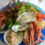 Fresh from loch Tain - our Signature Seafood Platter