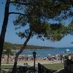 Spiaggia vista dalla pineta della zona piscina