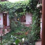 Courtyard with garden as you enter the hotel