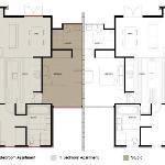 Apartment and Studio floor plan