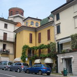 Laveno 1673 is the yellow building