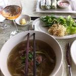 springrolls and Pho soup