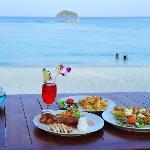 Food on beach