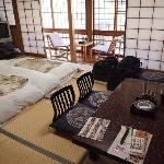 Traditional Jpanese-style room at Matsuya Ryokan
