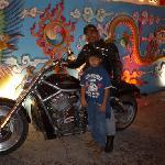 Domas's patron and cool biker.