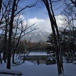 雪中の泉門池