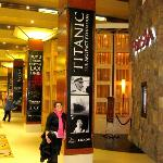 Inside the Luxor hotel at Titanic