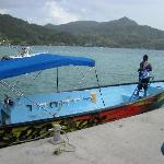 The smaller dive boat