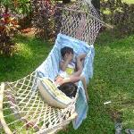 kids enjoying the hammock