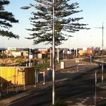 Container depot from balcony